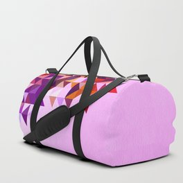 Colourful and Vibrant Geometric Nature on Ombre Pink Duffle Bag
