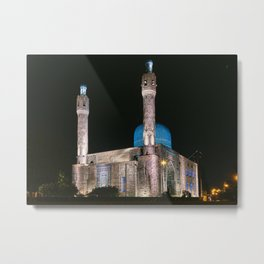 Mosque at night, night city, St. Petersburg (Russia) (2018-7SPB96) Metal Print