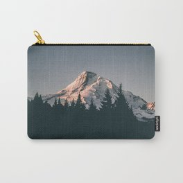 First Light on Mount Hood Carry-All Pouch