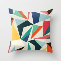 Throw Pillows featuring Collection of pointy summit by Picomodi