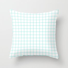 bule  grid  vector background Throw Pillow