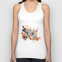 shoes Tank Tops featuring Shoes by Sasha Spring Illustration
