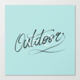 (Go) Outdoors Canvas Print
