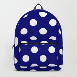 POLKA DOT (WHITE & NAVY) Backpack