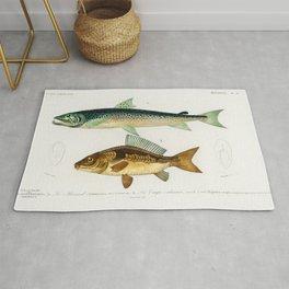 Salmon & Carpe by Charles Dessalines D' Orbigny Rug