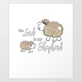 Christian Design - The Lord is My Shepherd Art Print