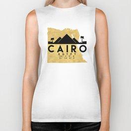 CAIRO EGYPT SILHOUETTE SKYLINE MAP ART Biker Tank