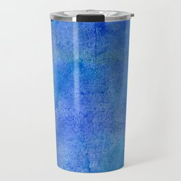 Hand painted abstract blue green watercolor brushstrokes Travel Mug