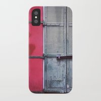 memphis iPhone & iPod Cases featuring Memphis Window by wendygray