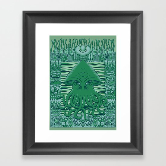 Dreamer in the Deep Framed Art Print