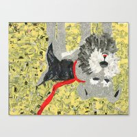 sassy Canvas Prints featuring Sassy by Becky Shelton