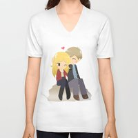 ouat V-neck T-shirts featuring OUAT - Daddy Charming by Choco-Minto