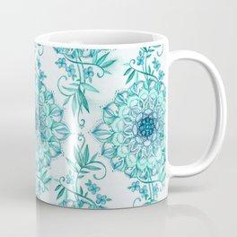 Mint and Teal Boho Nature Mandala Coffee Mug