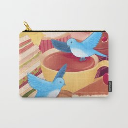 Tea Time Poesy Carry-All Pouch