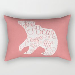 BEAR WITH ME - PINK Rectangular Pillow
