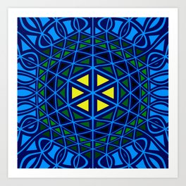 Geometric abstract art Art Print