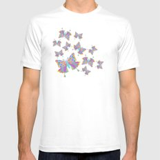 colors in the sky MEDIUM Mens Fitted Tee White