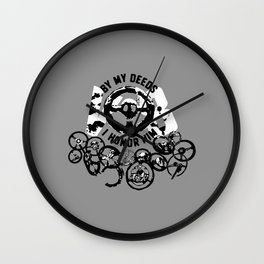 BY MY DEEDS I HONOR HIM, V8 Wall Clock