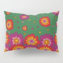 Retro Blooming Pillow Sham