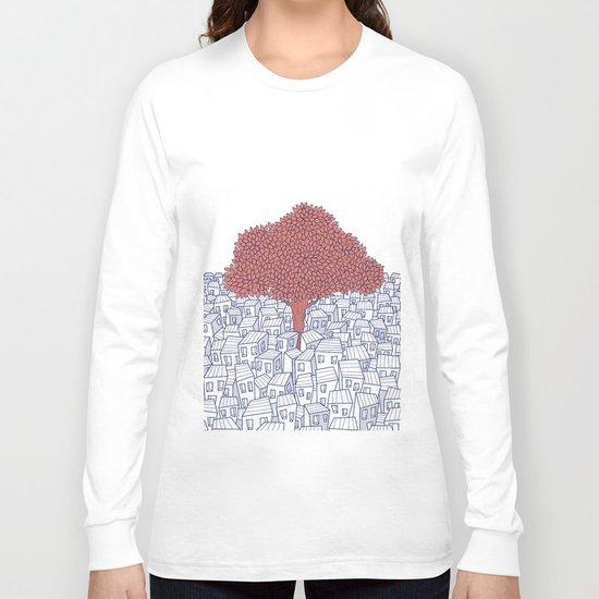 Leaves & Polygon (II) Long Sleeve T-shirt