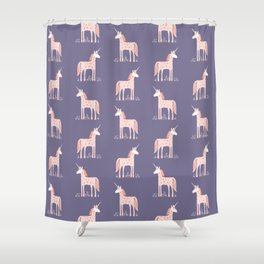 Unicorn with Flowers Shower Curtain