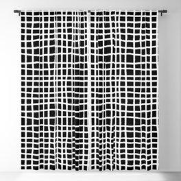 black and white random cross hatch lines checker pattern Blackout Curtain