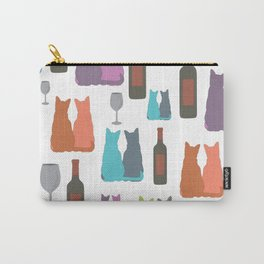 Cats and wine Carry-All Pouch