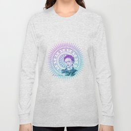 Frida Kahlo Feminist Bravery Long Sleeve T-shirt