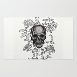 Skull and Roses Rug