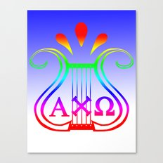 Alpha Chi Omega, only color Canvas Print
