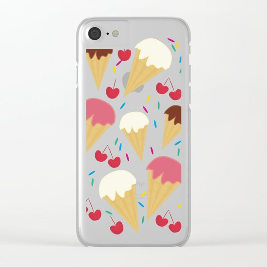 Ice Cream Cones Clear iPhone Case