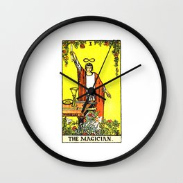 Vintage Tarot Card The Magician Wall Clock
