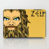 mythology iPad Cases featuring Greek Mythology ZEUS by TECHNE