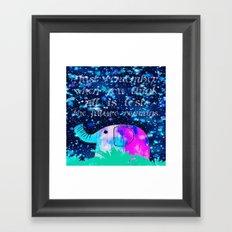 elephant-15 Framed Art Print