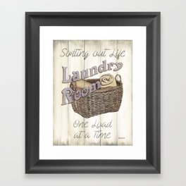 Vintage Laundry Room 2 Framed Art Print