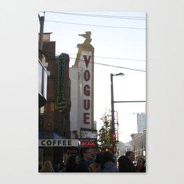 Vogue Sign Granville Street Canvas Print