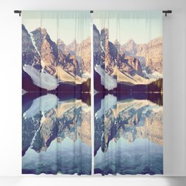 Moraine Lake Reflection Blackout Curtain
