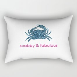 Crabby & fabulous Rectangular Pillow