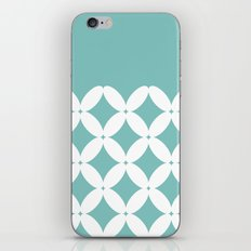 Abstract pattern - blue and white. iPhone Skin