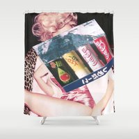 coke Shower Curtains featuring COKE by Rayane Guedes XII