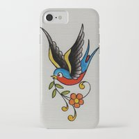 swallow iPhone & iPod Cases featuring swallow by Buffy Ino Kua