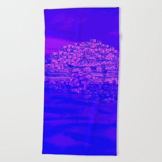 Dreaming Mediterranean Sunset Beach Towel