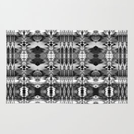 B&W Watercolor Ikat Rug