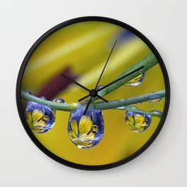 string of lilly drops Wall Clock