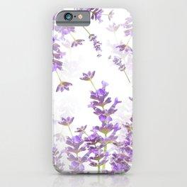 Lavender Bouquets On White Background #decor #society6 #buyart iPhone Case