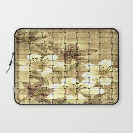 Vintage Floral Basket Weave Laptop Sleeve