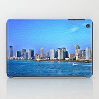 new york skyline iPad Cases featuring New York  Skyline   by Judy Palkimas