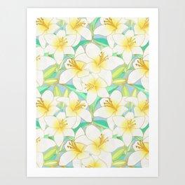 Gilding the Lilies - bright Art Print