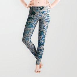 Blue and Emerald Splatter Leggings