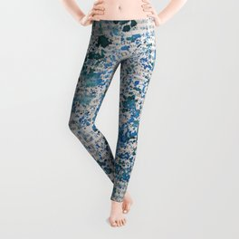 Blue and Emerald Splatter Leggings